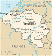 Major cities of Belgium