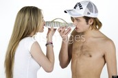 Two People sniffing a Flipflop