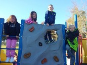 Rock Wall Fun at Recess!