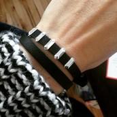 Remy Wrap Bracelet - Black/Silver