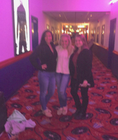 My friends Alyssa, Erika, and I at the movie theater