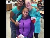 Poojitha, Rachel and Kiersten