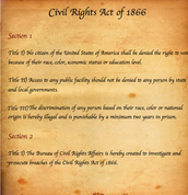 Civil Rights Act 1866