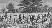Slaves walking