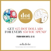 Dot Dollar Promo until December 15
