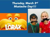 Jueves, 3 de marzo, !Día de bigote!
