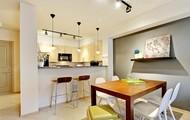 Open Breakfast Bar with Granite