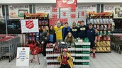 The Baseball and Softball Teams Hit a Home fun for the Salvation Army