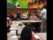 SRO Sgt. Massey Turns and Talks With Other Parents About Math