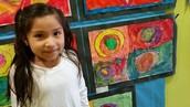 ENJOYING ART AT MENCHIES STUDENT ART SHOW