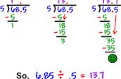 How to divide decimals