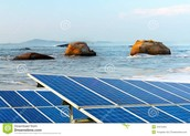 equals Solar Panels on a Beach