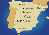 Spain is located in the southwest of Europe.