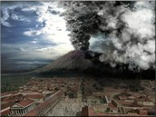 This is a image of pompeii when it erupted