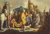 הדגלות דוד בפני שאול לפני המלחמה נגד גולית