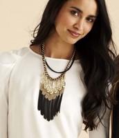 Lillith Fringe necklace-$70