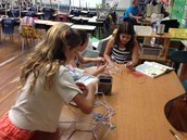 Eva dedicated to accomplishing her polyhedron!
