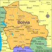 Bolivia on the map