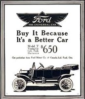 an Ad for a Model T