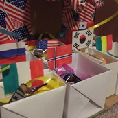 The Little Boxes with Flags