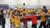 Dancing at October Panther Pride Assembly