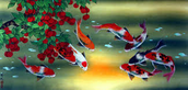 Fish and berries