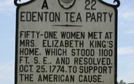 Edenton Tea Party Sign
