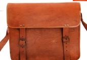 Handmade Goat Leather 13 Padded Laptop Bag Satchel SMR