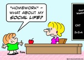 3.homework interferes with family, friends, sports, and outside of school activities