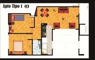 Apartamento tipo 1 opcion 2