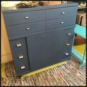 Mid Century Blue Dresser