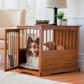 Artfully Crafted Dog Crate