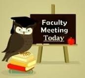 April 12 - Faculty Meeting