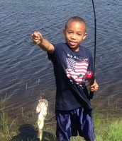 Caught my first fish. I love fishing!