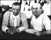 Clarence Darrow (Left) and William Jennings (Right) during the Monkey Trials.