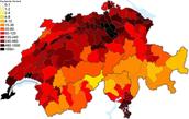 Population Density of Switzerland