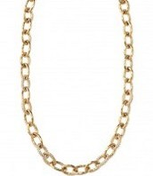 Gold Christina Link Necklace $35