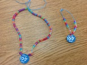 100th day bracelets and necklaces!