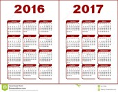 Proposed Instructional Calendar for 2016-2017