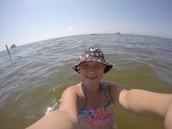 Me swimming in Lake Michigan