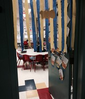 Mrs. Boylan decorated her door to celebrate the 100th day!