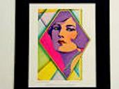 Vintage Flapper painting