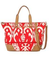 Red Ikat Getaway Bag