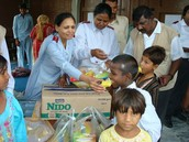 giving food to the hungry