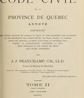 First Page of Quebec Civil Code