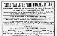 Lowell Mill flyer
