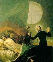 Painting of exorcism