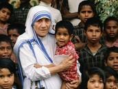 Mother Teresa Helping the Children