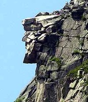 Rock Face in Mountain. Collapsed in 2003