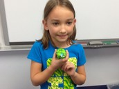 Brooklin and her turtle!